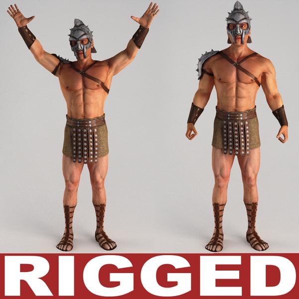 Gladiator Rigged 3D Models