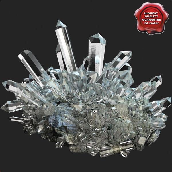 Mineral Quartz 3D Models