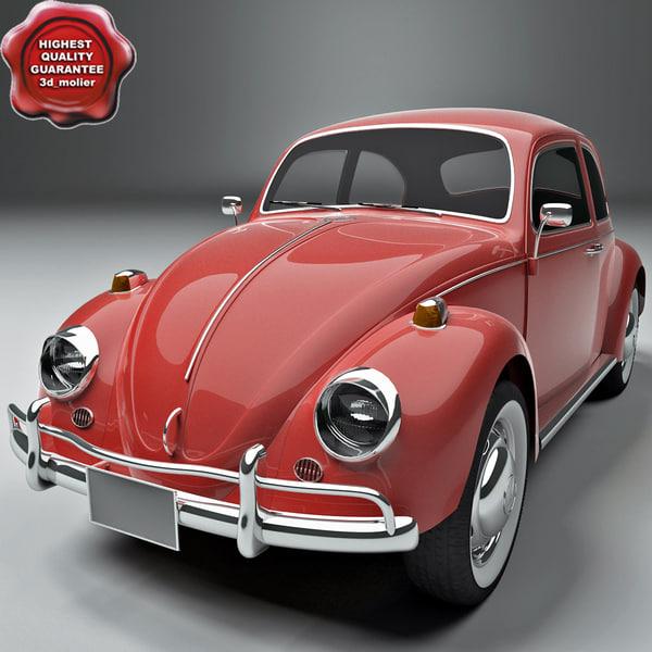 Volkswagen Beetle 1300 1963 3D Models