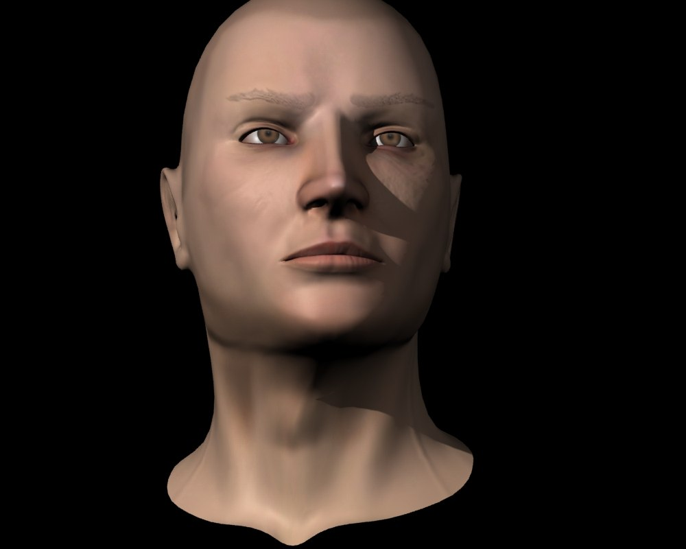 Rigged Game Character Head