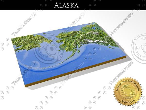 Alaska, High resolution 3D relief maps 3D Models
