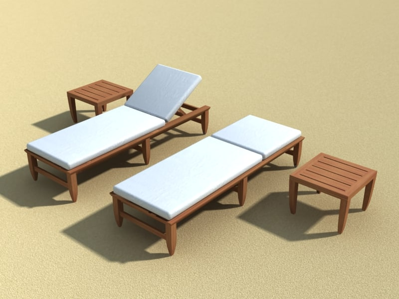 Kingsley chaise amalfi teak 3d model for Amalfi chaise lounge