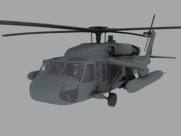 UH-60 Black Hawk US Army Transport Helicopter Game model 3D Models