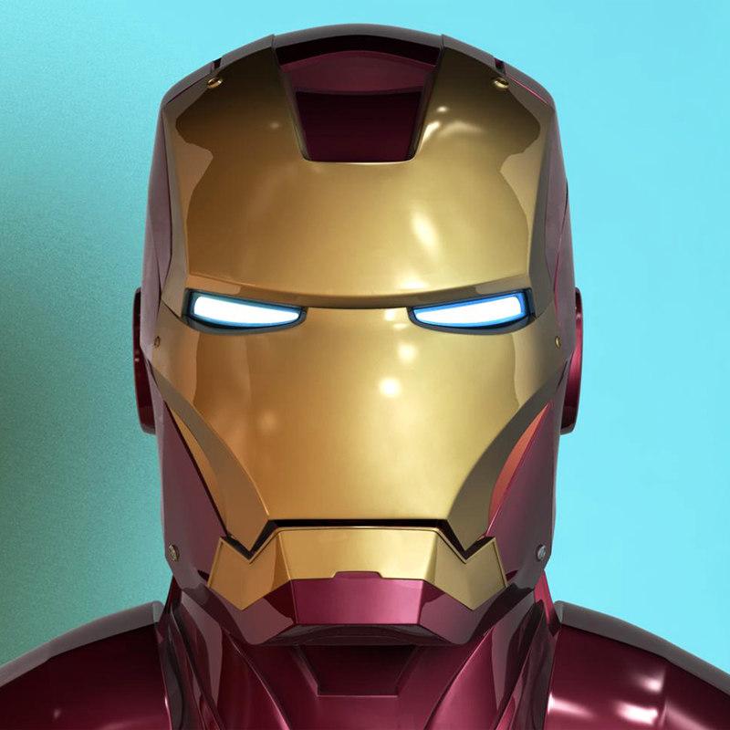 Iron Man Helmet 3d Model Ironman Helmet 3d Model