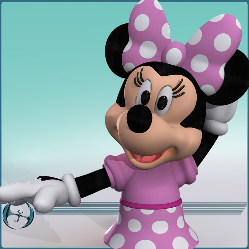 3d model of cartoon mouse minnie