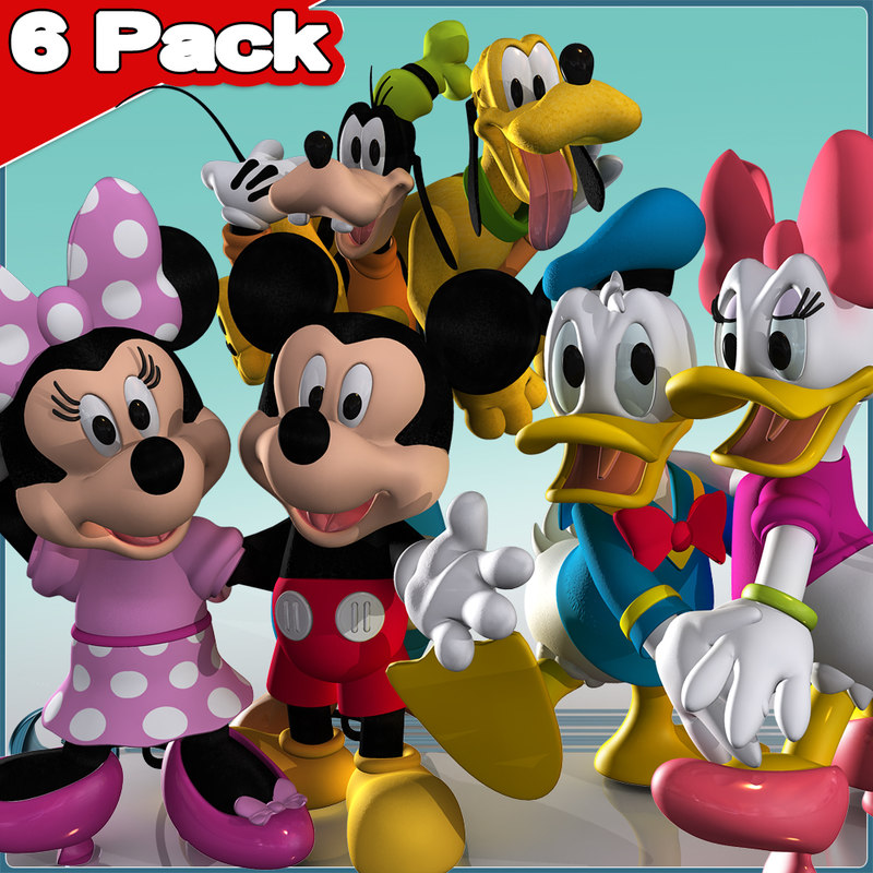 6 Pack:  Mickey & Friends