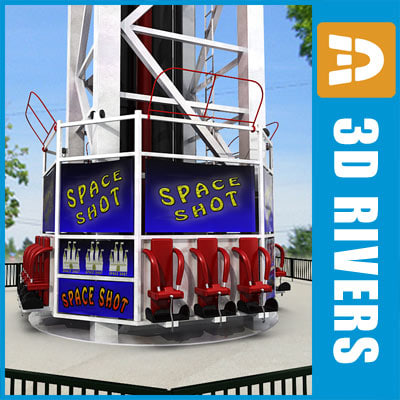 Space Shot ride by 3DRivers 3D Models
