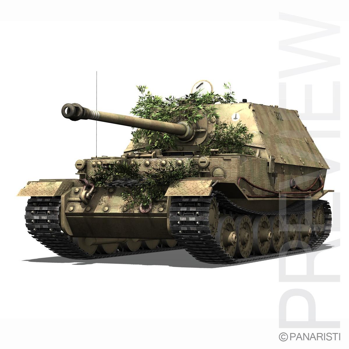 SD.KFZ 184 Tank destroyer Tiger (P) - Elefant