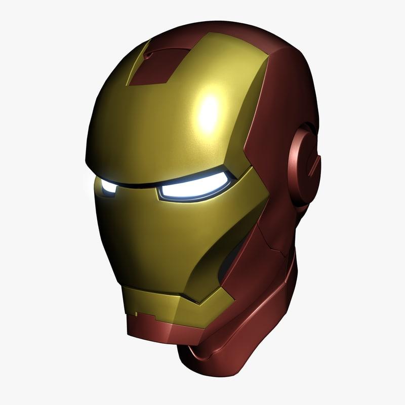 Iron Man Helmet 3d Model 3d Model Ironman Helmet Iron