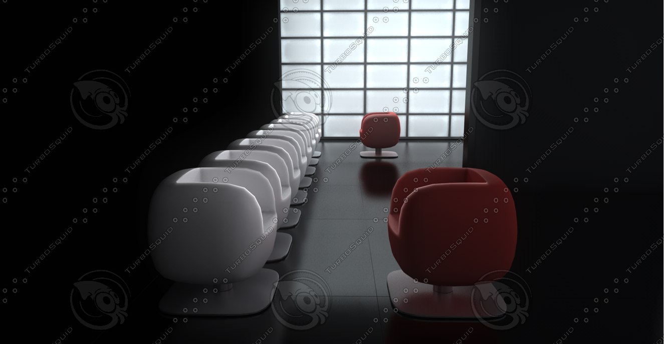 room chairs window 3d model