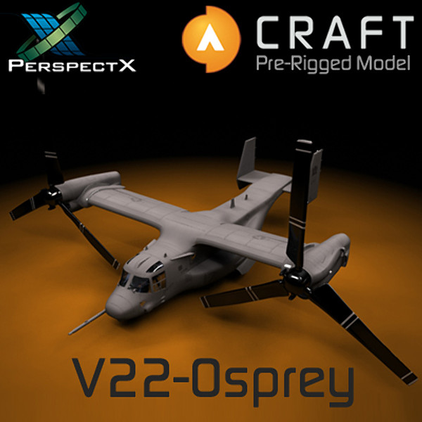 V-22 Osprey Pre-Rigged for Craft Director Studio 3D Models