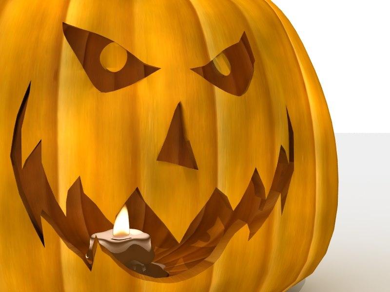 Jack O Lantern with Candle