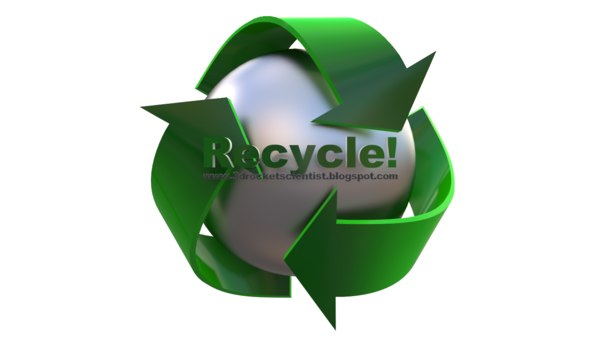 3dsmax Model of Recycling Logo 3D Models