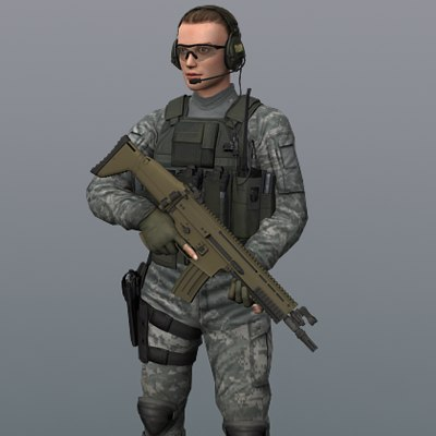 Army of One Girl 3D Models