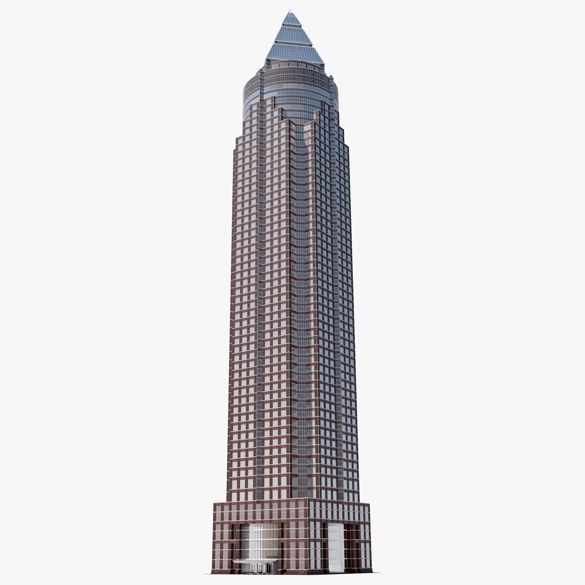 3d Model Skyscrapers 3d Messeturm Skyscraper