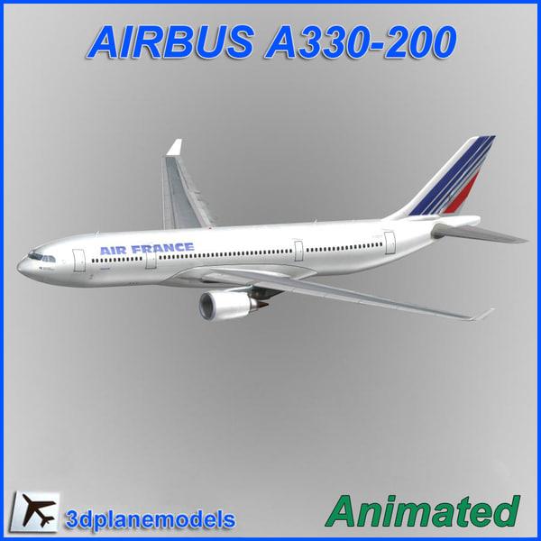 Airbus A330-200 Air France 3D Models