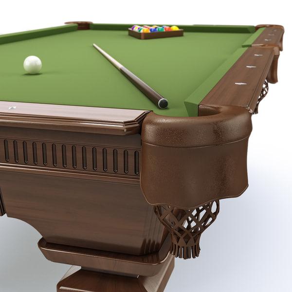 Pool table 8ft classic 3D Models