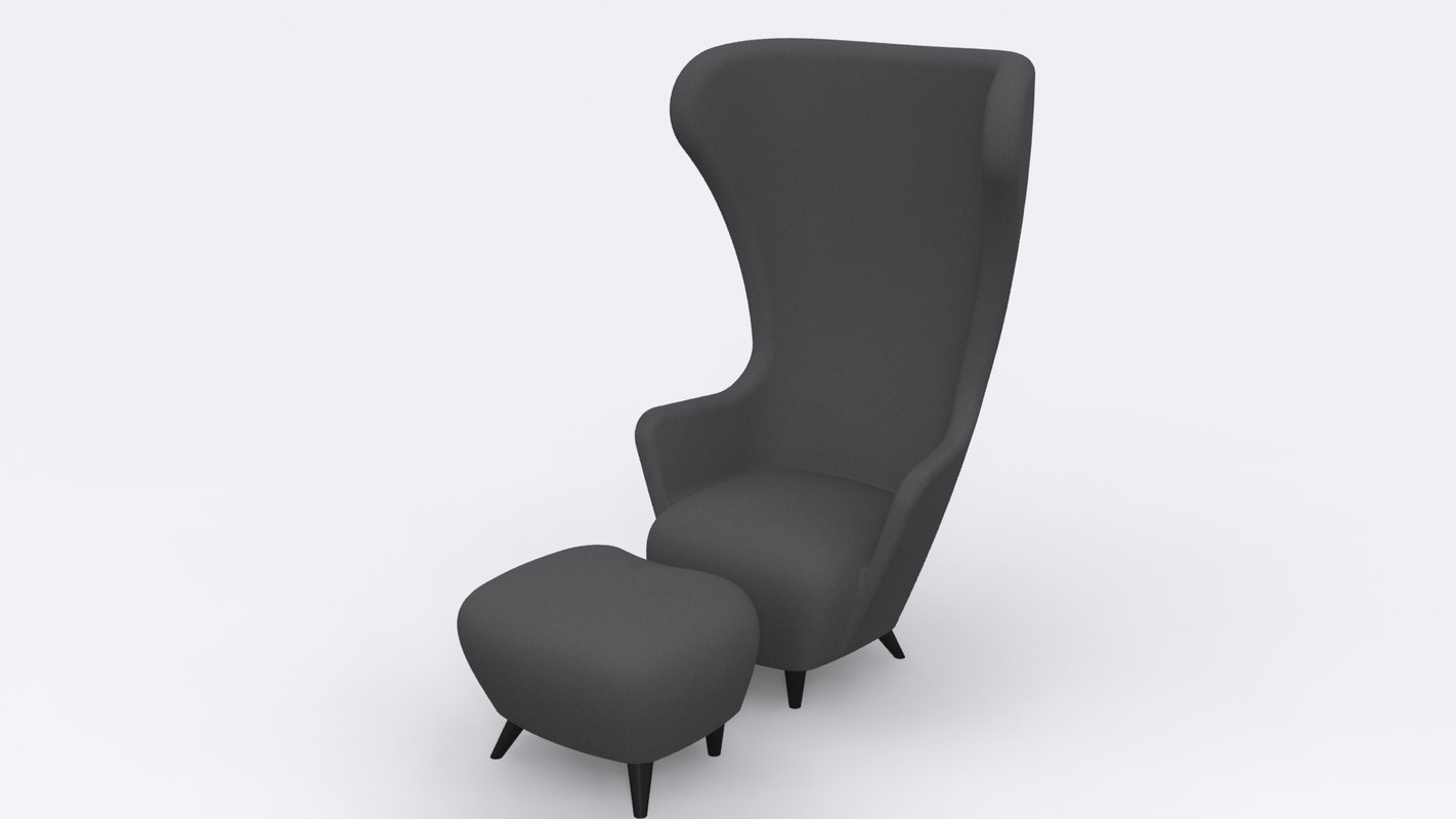 Tom Dixon Wingback Chair and Stool