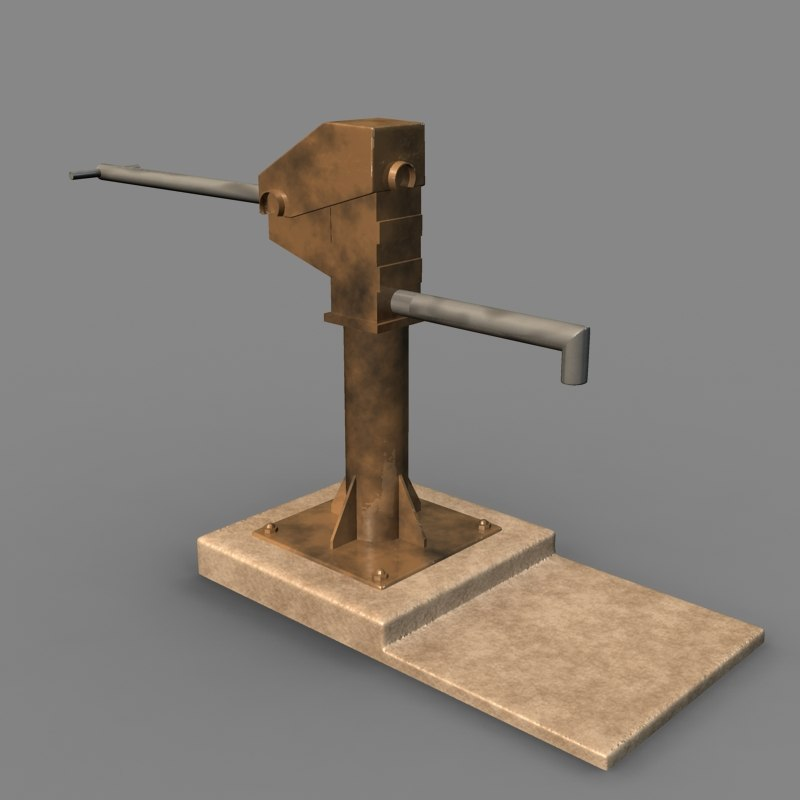 Water Pump 3d Model Manual Pump 3d Model