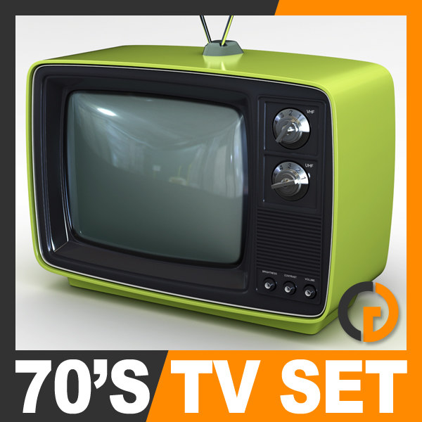 Retro Style 70s Television Set 3D Models