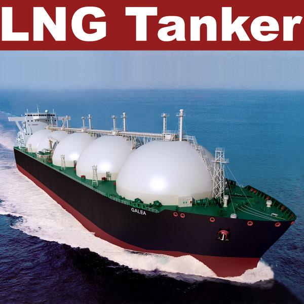LNG Tanker Galea 3D Models