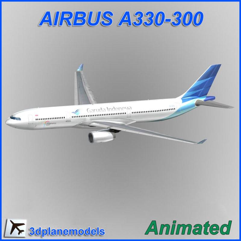 airbus a330 300 3d model