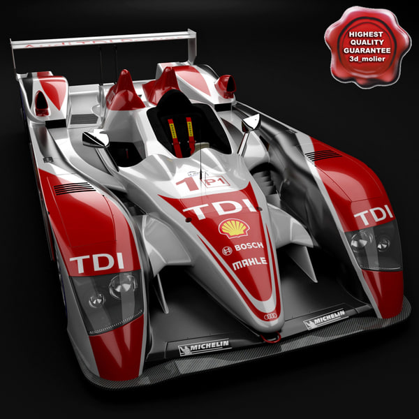 Audi R10 Race Car 3D Models