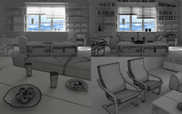 poang chair 3D models
