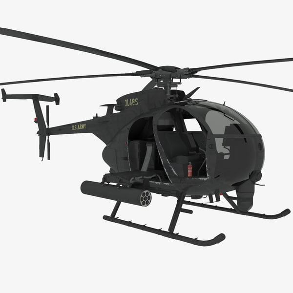 AH-6G Little Bird 3D Models