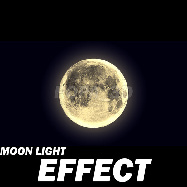 Moon light effect 3D Models