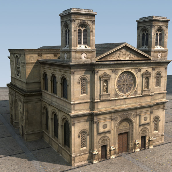 Church Low Poly High resolution textures 3D Models