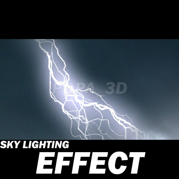 sky lighting effect Stock Photography