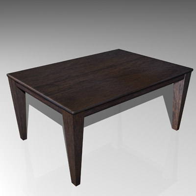 Mahogany End Table Texture Maps