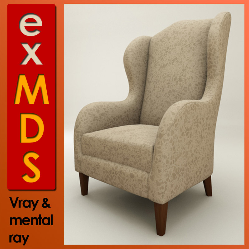 Wingback Chair (vray & mr)