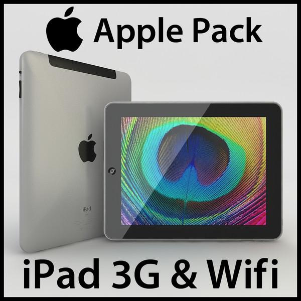 Apple iPad 3G & Wifi Pack 3D Models