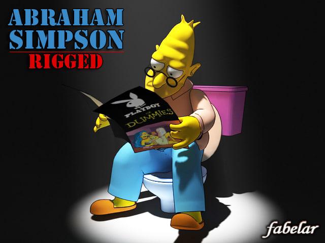 Abraham Simpson rigged