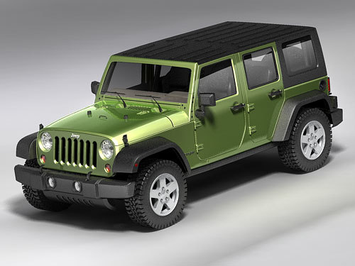Jeep Wrangler Unlimited 3D Models