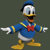 cartoon duck 3D models