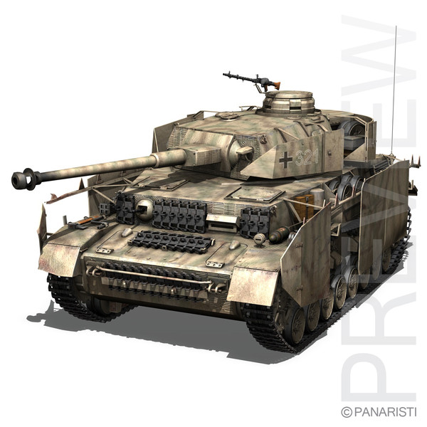 SD.KFZ 161 PzKpfw IV - Panzer 4 - Ausf.H Late 3D Models