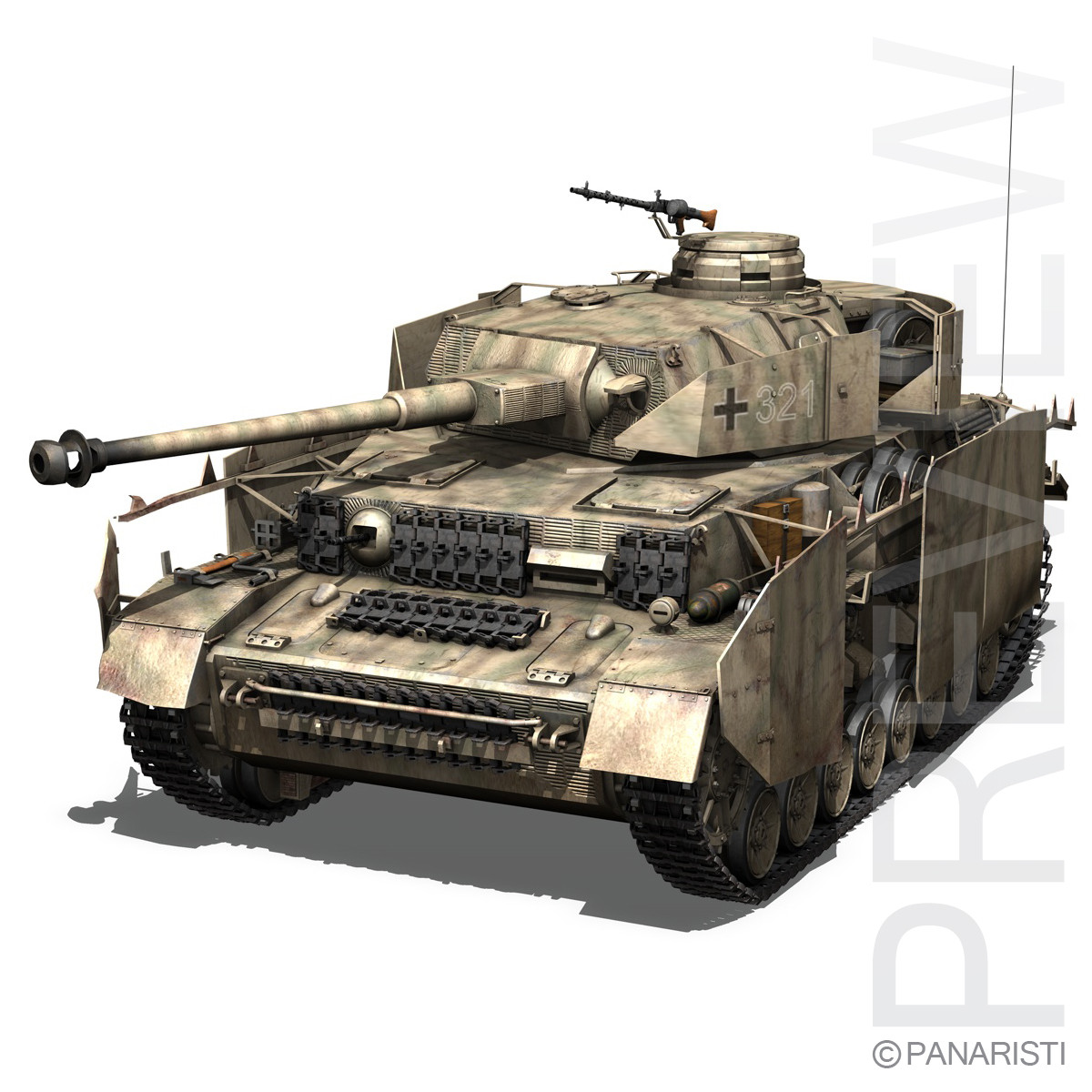 SD.KFZ 161 PzKpfw IV - Panzer 4 - Ausf.H Late