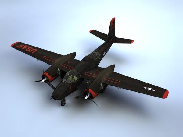A-26B Invader 3D Models