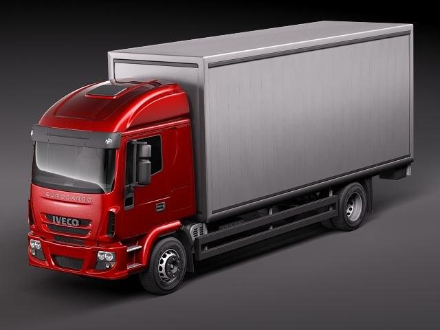 3d iveco eurocargo cargo truck