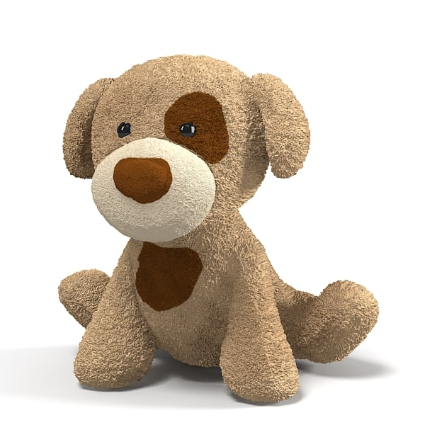plush toy dog 3D Models