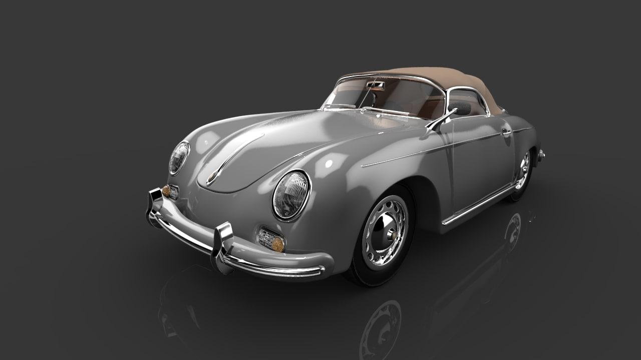 porsche 356 speedster car