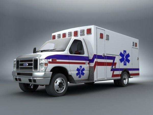 2011 Ford E-450 Ambulance 3D Models
