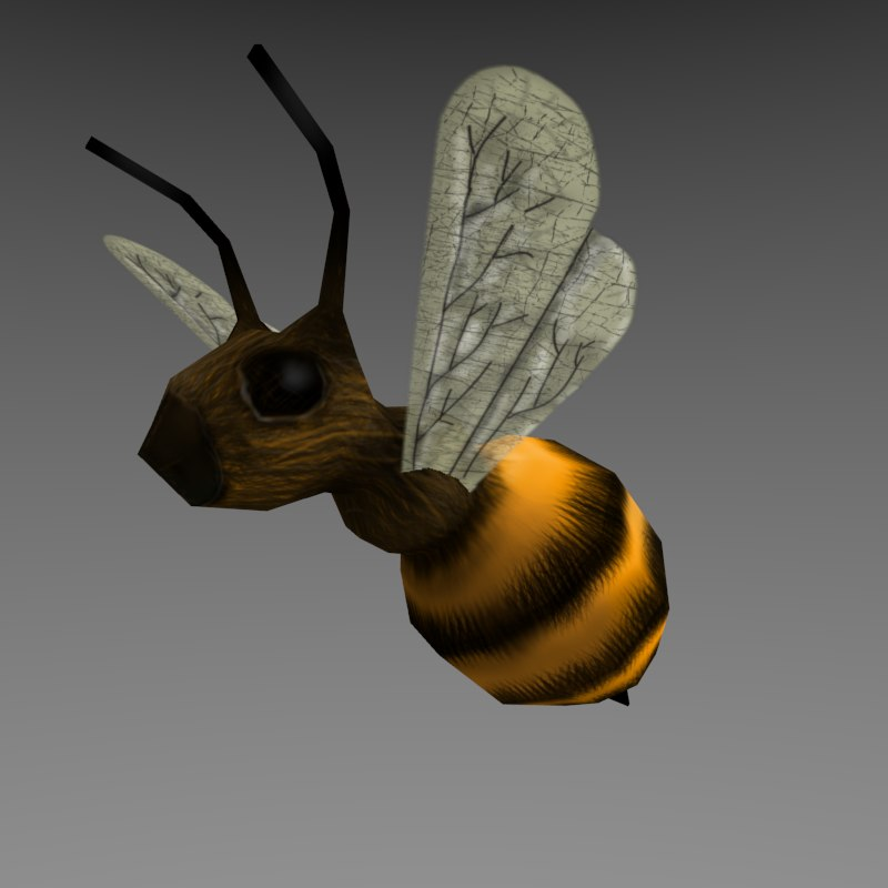Low Poly Cartoon Bee