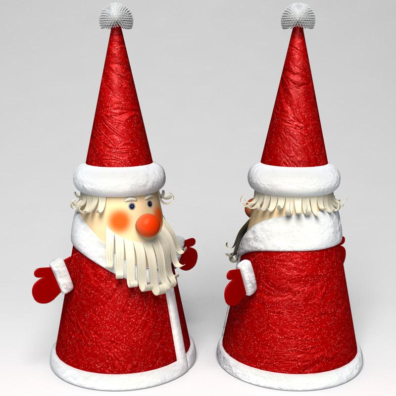 Дед мороз из бумаги конусом своими руками