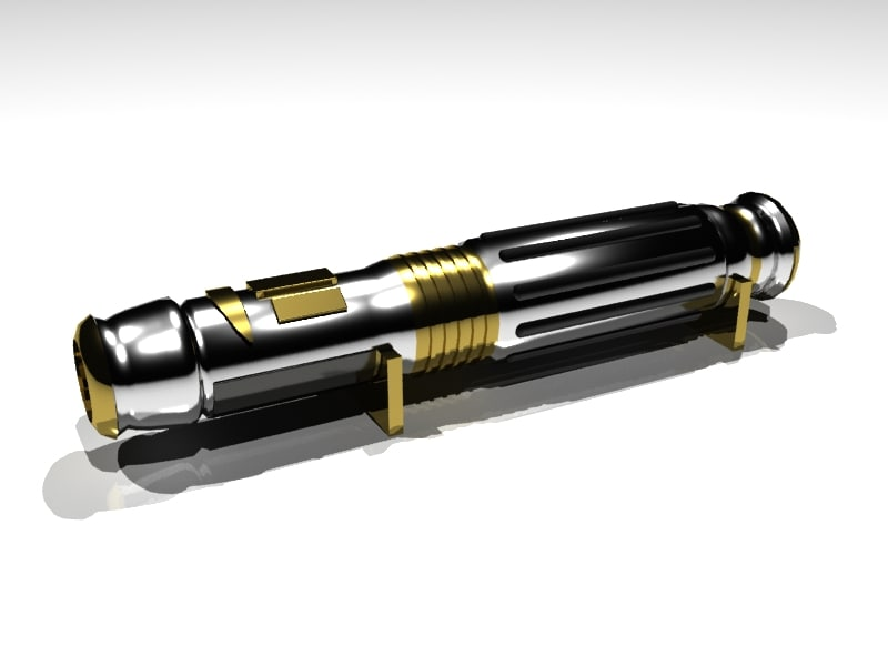 free mace windu lightsaber 3d model