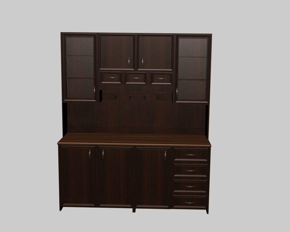 antique cupboard 3d model