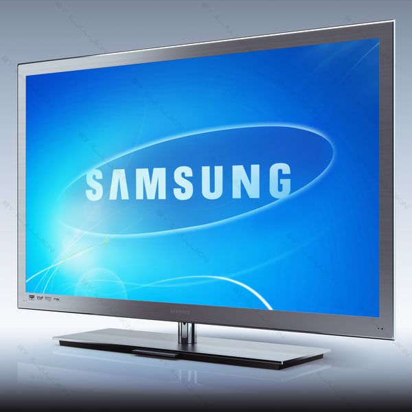 Samsung LED TV 9000 and Remote RMC30C2 Touch Control 3D Models